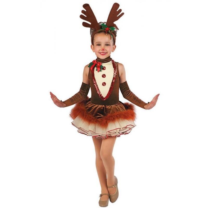 Fantasia Infantil Meninas Rena Vestido Tutu Natal Importada