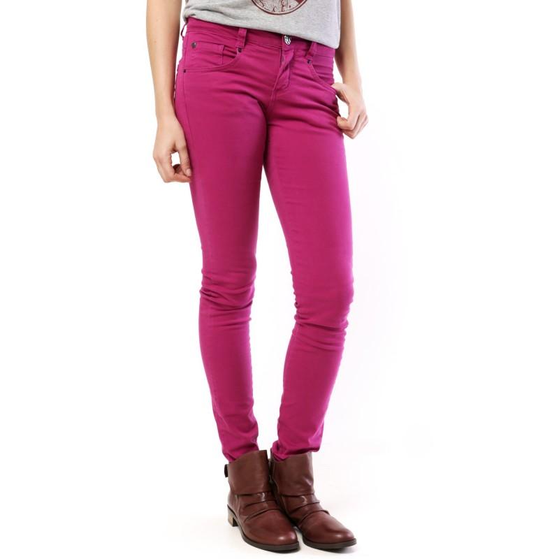 Calça Feminina Skinny Sarja Color Roxa