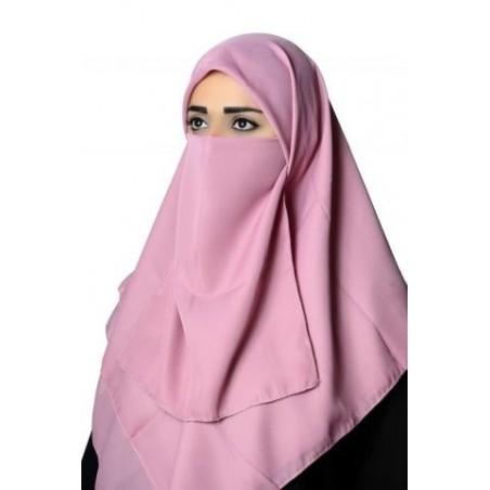Hijab Burca Lenço Rosa Muçulmano Mulheres