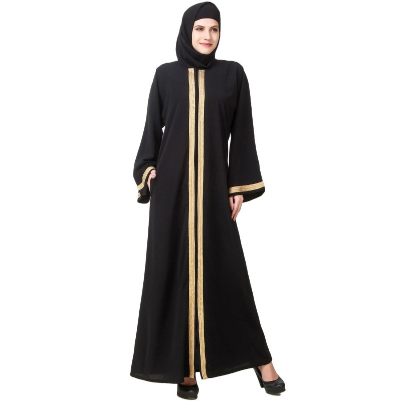 Burca Lenço Preto Traje Muçulmano Mulheres