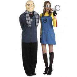 Fantasia Casal Gru e Minion Meu Malvado Favorito Halloween Carnaval