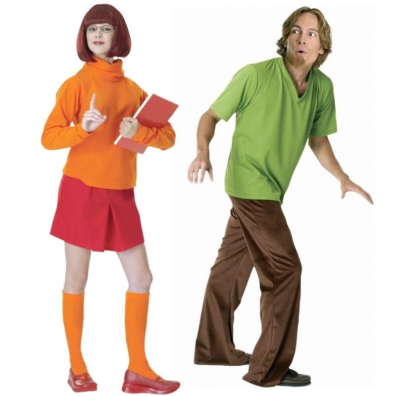 Fantasia Casal Salsinha E Velma Scooby Doo Adulto Halloween Festa
