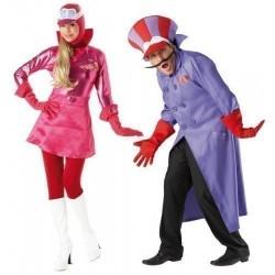 Fantasia Casal Penelope Charmosa Dick Vigarista Halloween Carnaval