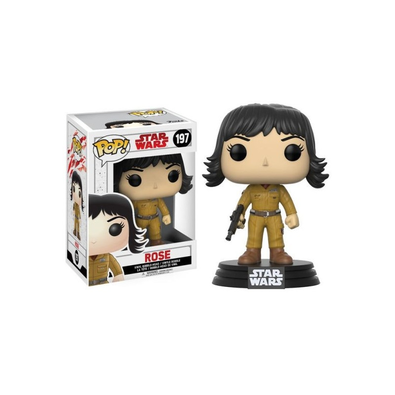 Boneco Figure Star Wars O Último Jedi Rose Funko Pop Vinil Geek