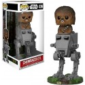 Boneco Figure Star Wars O Último Jedi Chewbacca com AT-ST Pop Vinil Geek
