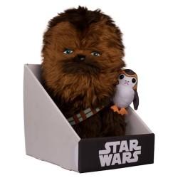 Pelúcia Chewbacca e Porg Star Wars O Último Jedi Geek