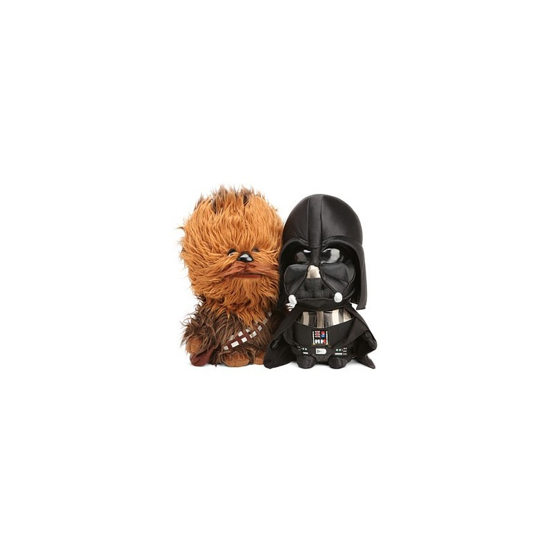 Bonecos de Pelúcia Star Wars Chewbacca Darth Vader Geek