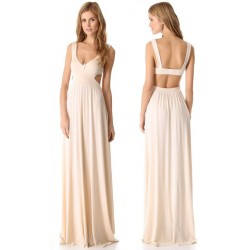 Vestido Longo Maxi Dress Festa Nude