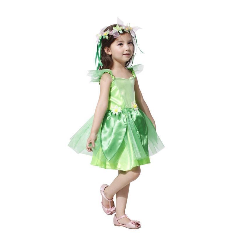 Fantasia Infantil Fada Verde Carnaval Festa Halloween Meninas