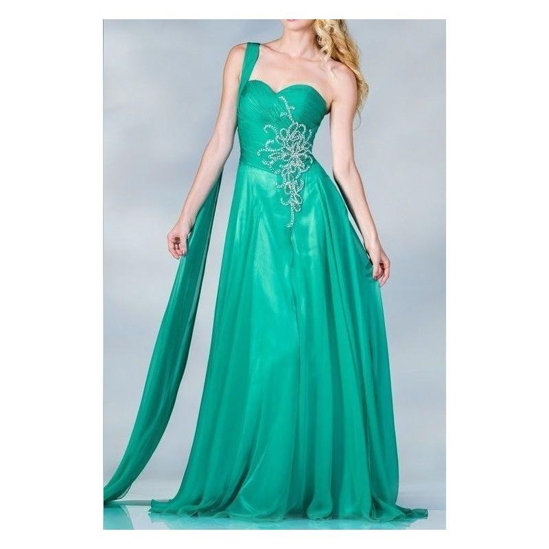 Vestido Longo Chiffon Festa Verde