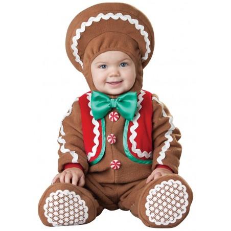Fantasia Infantil Biscoito de Gengibre Bebês Festa Carnaval Fotos Halloween