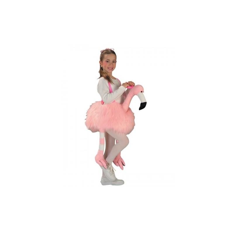 Fantasia Infantil Flamingo Meninas Rosa Carnaval Halloween Festa