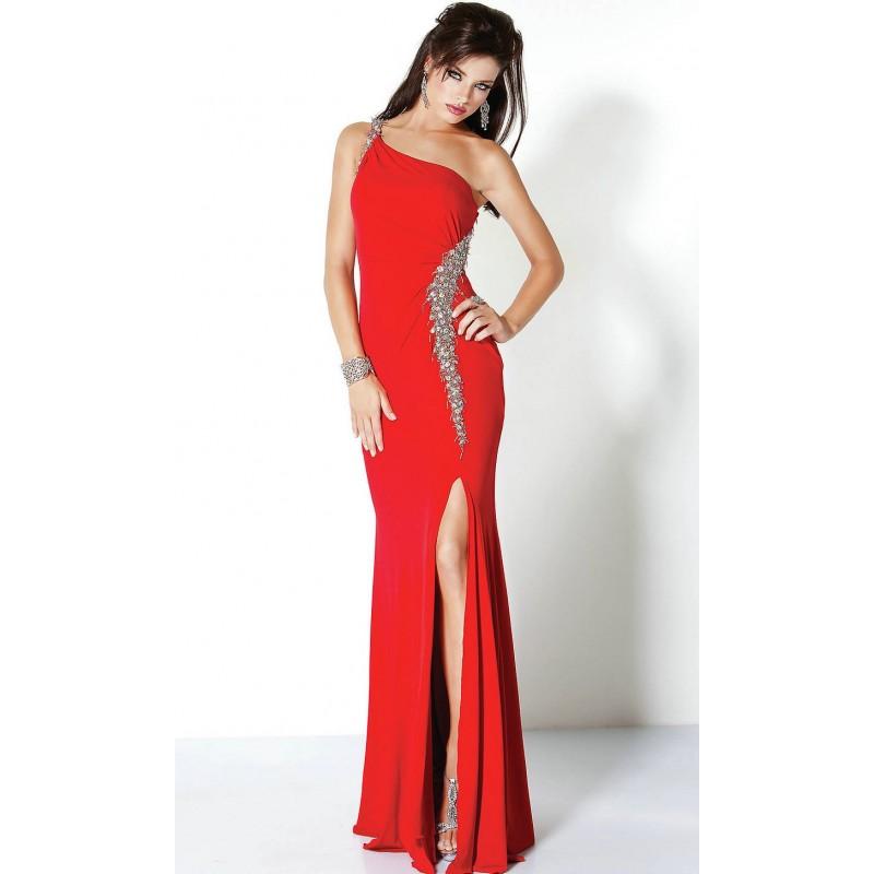 Vestido Longo Festa Sereia Vermelho Fenda