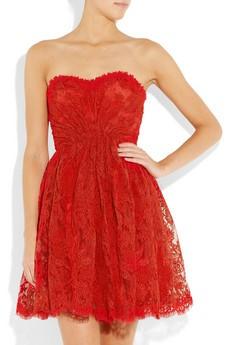 Vestido de festa curto vermelho tomara que caia
