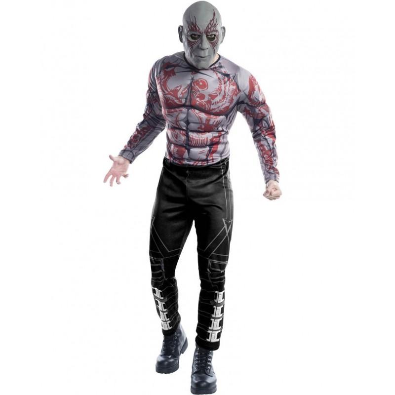 Fantasia Luxo Adulto Masculina Drax Guardiões da Galáxia Halloween Cosplay