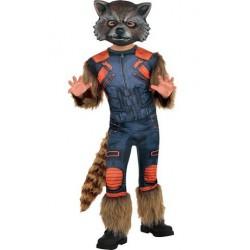 Fantasia Infantil Luxo Rocket Guardiões da Galáxia Halloween Cosplay Carnaval