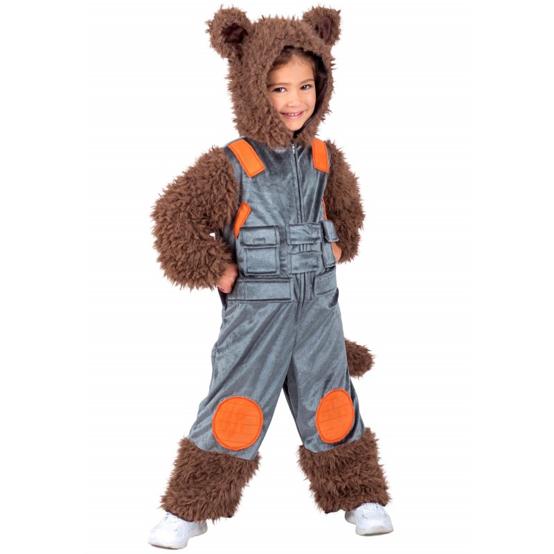 Fantasia Infantil Rocket Raccoon Guardiões da Galáxia Halloween Carnaval Festa