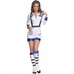 Fantasia Feminina Astronauta Sexy NASA Halloween Carnaval