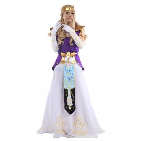 Fantasia Feminina Princesa Zelda Luxo Halloween Cosplay Carnaval