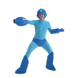 Fantasia Masculina Mega Man Carnaval Halloween Cosplay