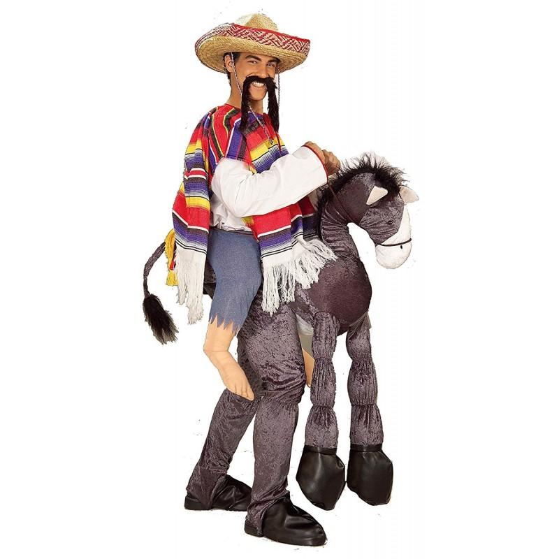 Fantasia Adulto Mexicano montado no Cavalo Halloween Carnaval