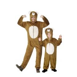 Fantasia Adulto Pai e Filho Urso Halloween Carnaval