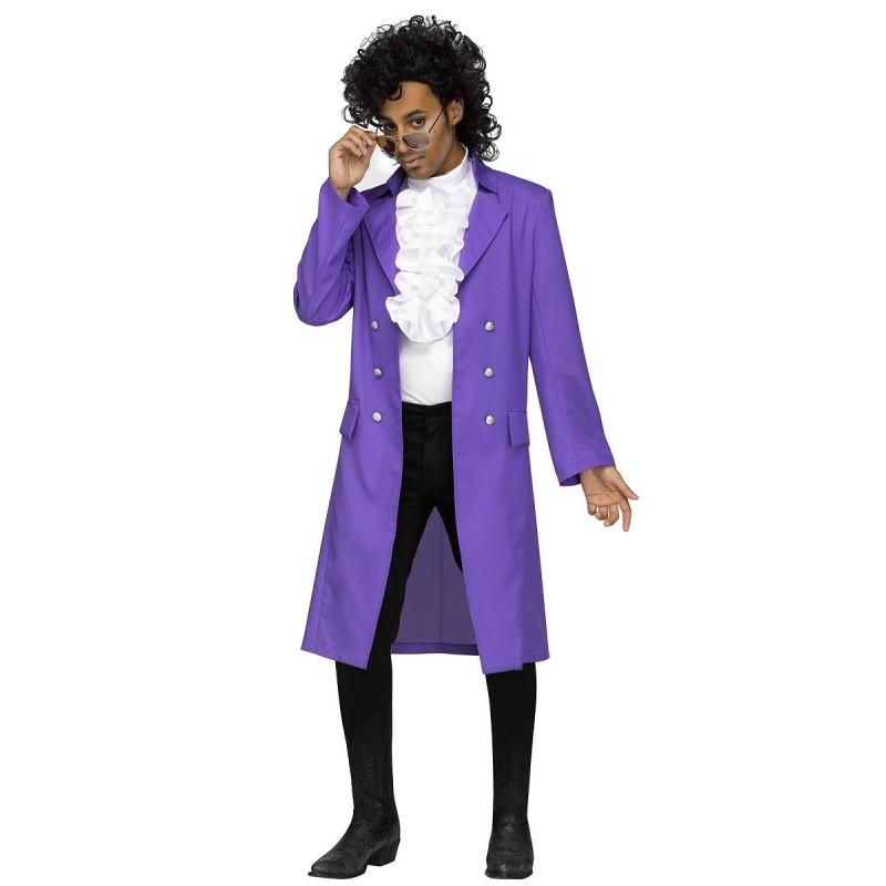 Fantasia Adulto Masculina Cantor Prince Halloween Carnaval