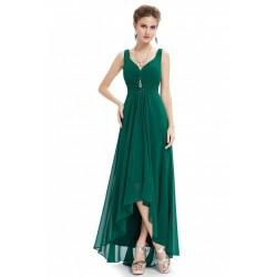 Vestido Longo Festa Verde Chiffon Alças Importado
