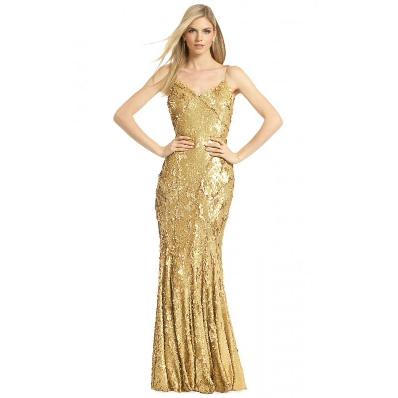 Vestido Festa Longo Dourado Brilho Sereia Alças