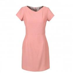 Vestido Casual Curto Tubo Acinturado Rosa