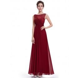 Vestido Festa Longo Chiffon Vermelho Importado
