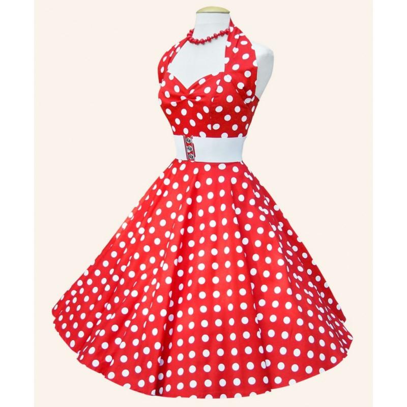 bajo precio 11054 de47c Vestido Poá Saia Godê Vermelho Estilo Anos 60