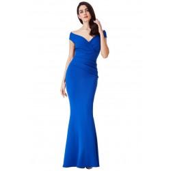 Vestidos Longo Festa Tafetá Azul