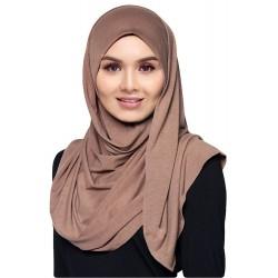 Hijab Véu Marrom Nude Traje Muçulmano Mulheres