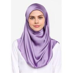Hijab Véu Cetim Lilás RoxoTraje Muçulmano Mulheres