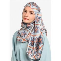 Hijab Véu Cetim Estampado Traje Muçulmano Mulheres