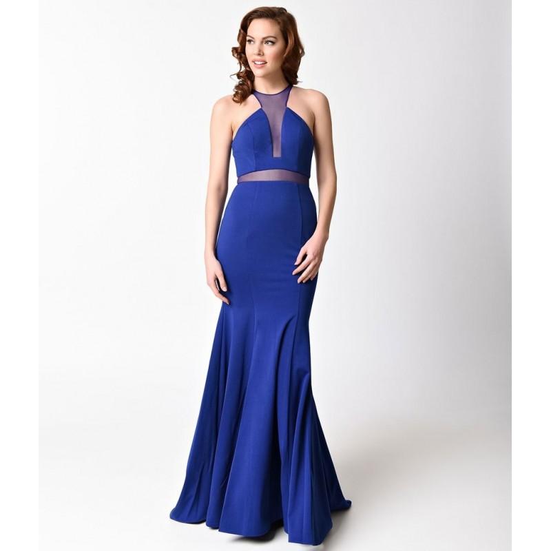 Vestido Longo Sereia Azul