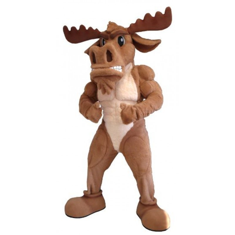 Fantasia Adulto Alce Musculoso Mascote Importada