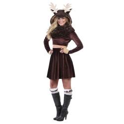 Fantasia Adulto Feminina Animais Alce Moose Importada