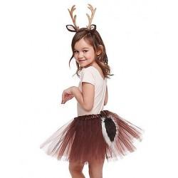 Fantasia Infantil Animais Veado Saia Tutu Meninas Halloween Carnaval