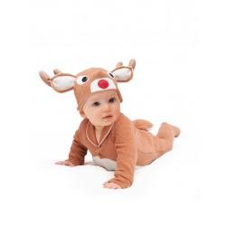 Fantasia Infantil Animais Rena Bebês Halloween Carnaval