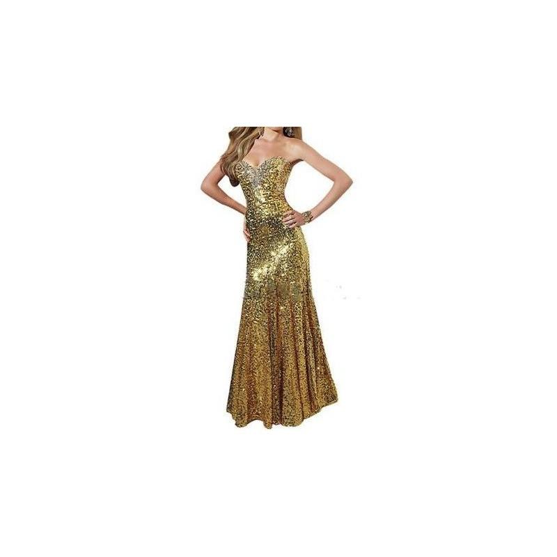 Vestido Longo Paete Dourado Tomara que Caia Festa