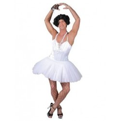 Fantasia Adulto Bailarina Divertida Halloween Carnaval