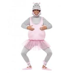 Fantasia Adulto Bailarina Hipopótamo Cômica Halloween Carnaval