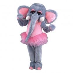 Fantasia Adulto Elefante Bailarina Mascote Halloween Festa Importada