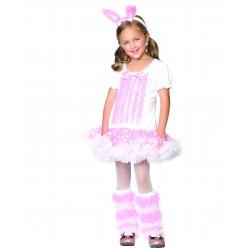 Fantasia Infantil Bailarina Coelhinha Meninas Halloween Festa Importada