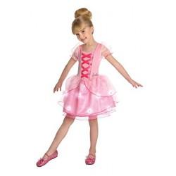 Fantasia Infantil Meninas Barbie Bailarina Rosa Halloween Carnaval