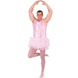 Fantasia Divertida Adulto Masculina Bailarina Rosa Halloween Carnaval