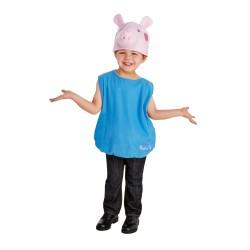 Fantasia Infantil Meninos George Pig Halloween Carnaval