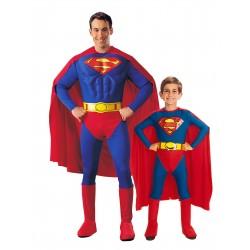 Fantasia Super Pai e Super Filho Superman Meninos Halloween Carnaval